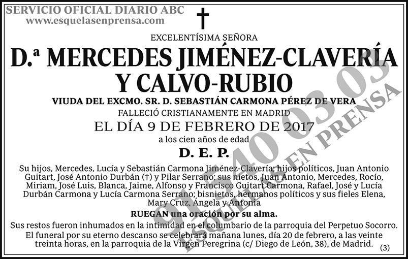 Mecedes Jiménez-Clavería y Calvo-Rubio